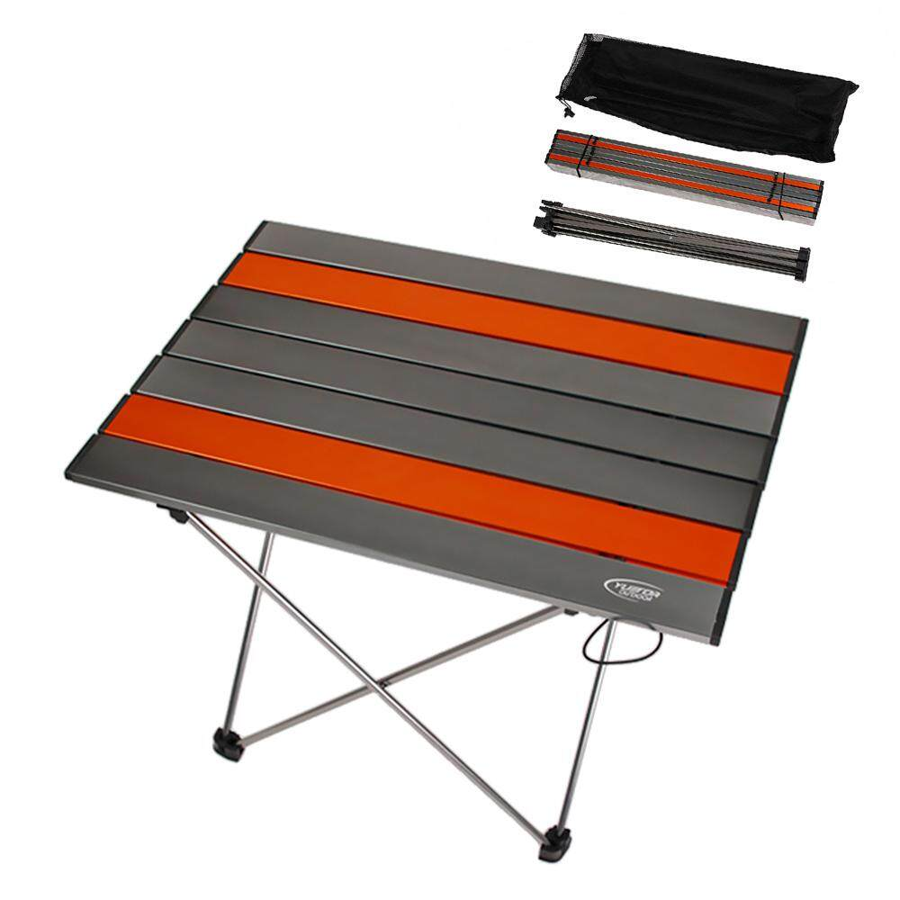 โต๊ะพับแบบพกพาอะลูมิเนียมอัลลอยเบาพิเศษกลางแจ้ง Camping โต๊ะปิกนิกโต๊ะ By Tomnet.