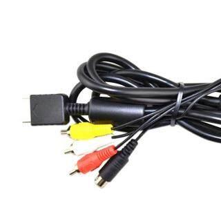 Sẵn sàng Cổ AV Dòng 2in1 âm thanh video dây dây S-Video Cáp AV cho PS2 cho PS3 Tay Cầm thumbnail