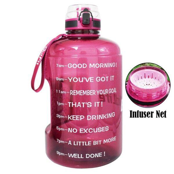 [CW] QuiFit 2.2L Gallon Chai Nước Có Khóa Flip-Flop Nắp Thể Thao Phòng Tập Thể Dục Chai Thể Dục Thể Thao Không Chứa BPA