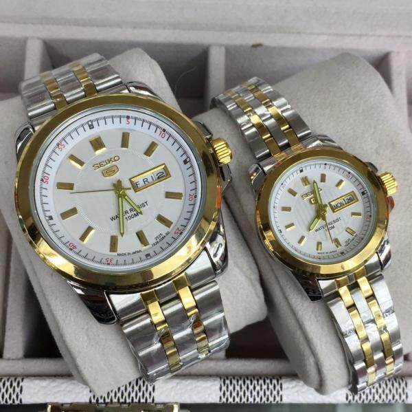 Special Promotion Seiko_5 Couple Watch Set Automatic Japan Movement fully Water Proof Malaysia