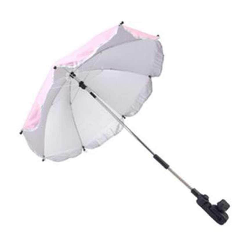 Unbrella Strollers Adjustable Baby Stroller Car Sunshade Umbrella with Clip Stroller Accessories Kids Children Pram Shade Holder Singapore