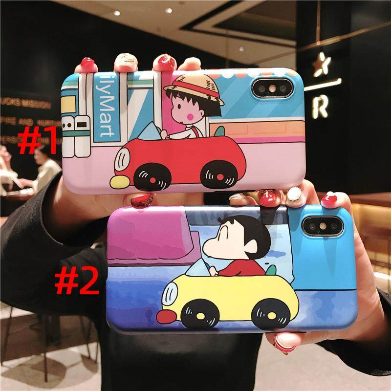 Cute Cartoon Pills Crayon Shin Chan Pattern Soft Tpu Phone Case For Iphone 6 6s 7 8 Plus Phone Back Cover For Iphone X Xs Max Xr Cases 2 Colors