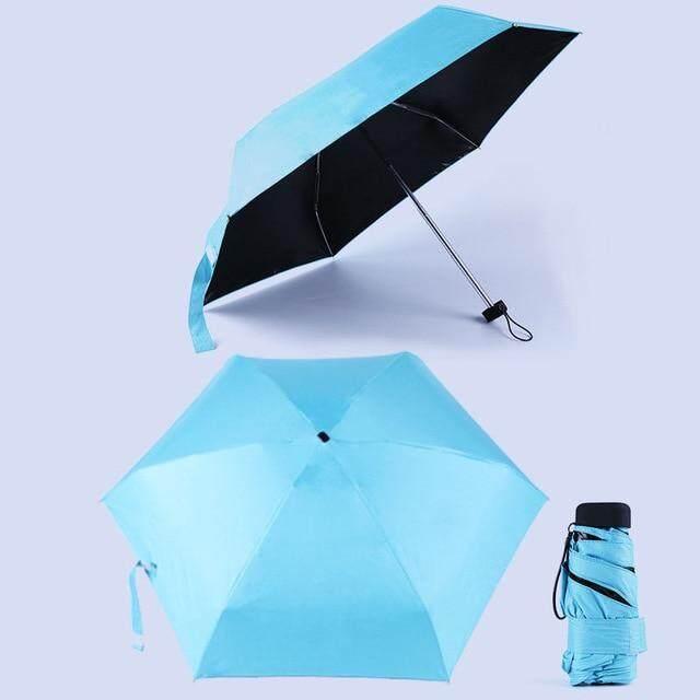 Mini bolsillo paraguas de sol protección moda plegable lluvia sombrilla mujer regalo chicas anti-UV portátil impermeable paraguas viajes,pink