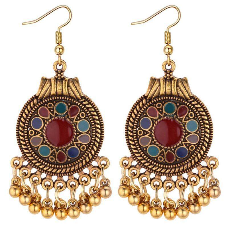 Yta Roman Style Vintage Drop Oil Metal Ball Tassel Dangle Earrings Women Jewelry By Just Waiting International Mall.