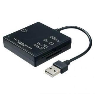 Sanwa USB2.0 Card Reader SD Micro SD MS CF Tương Ứng Đen ADR-ML23BK thumbnail