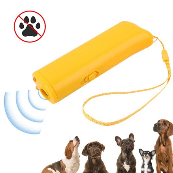 Dụng Cụ Đuổi Chó Cầm Tay Huấn Luyện Viên Đèn Pin Chó Siêu Âm Ngăn Chặn 16.4ft Phạm Vi Vỏ Cây Huấn Luyện Chó