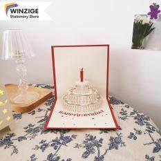 Thiệp Sinh Nhật Winzige Ins 3D Bánh Thẻ Hàn Quốc Quà Tặng Lời Chúc Tốt Nhất Cổ Điển Thiệp Chúc Mừng