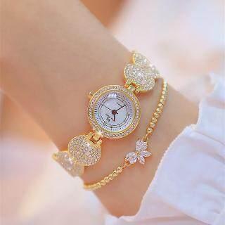 Đồng hồ đeo tay BS Bee Sister 1606 cho nữ, đồng hồ bóng, dây thép không gỉ, đính đá toàn mặt, kiểu Hàn Quốc mới, phong cách thường ngày (sản phẩm không bao gồm lắc tay) - INTL thumbnail