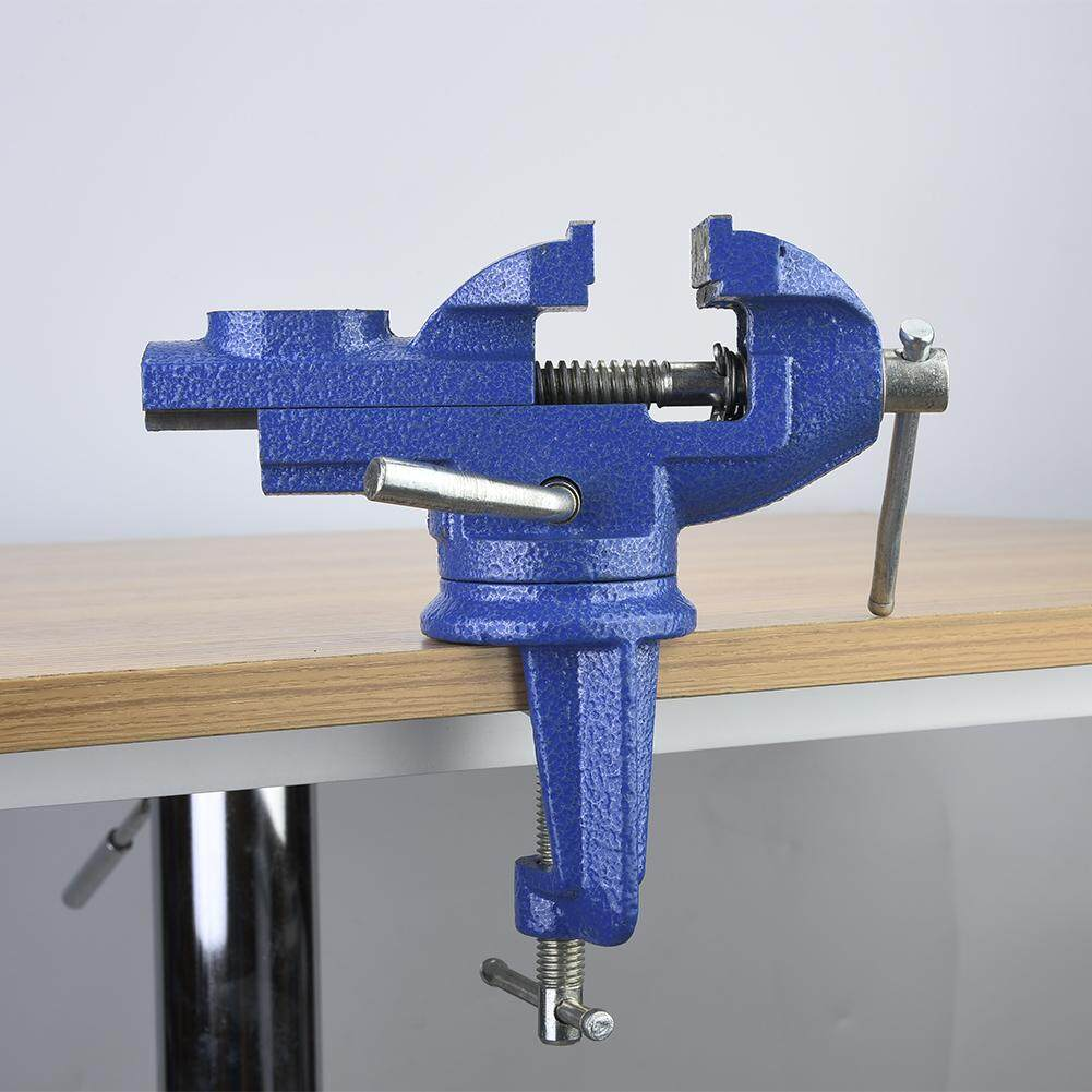 Clamp-on Bench Vise Swivel Table Clamp with Anvil for Jewelry Woodworking 50/60mm