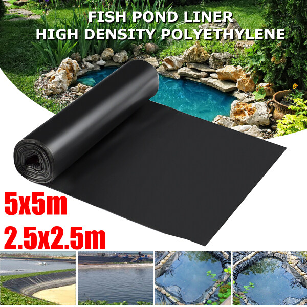 2.5x2.5/5x5m 0.12mm Thickness Fish Pond Liner Pool Garden PVC Membrane Thick Heavy Reinforced Landscaping - 2.5x2.5m