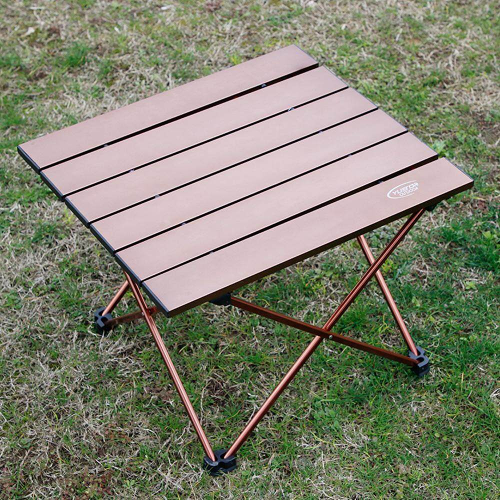 โต๊ะพับแบบพกพาอะลูมิเนียมอัลลอยเบาพิเศษกลางแจ้ง Camping โต๊ะปิกนิกโต๊ะ By Haitao