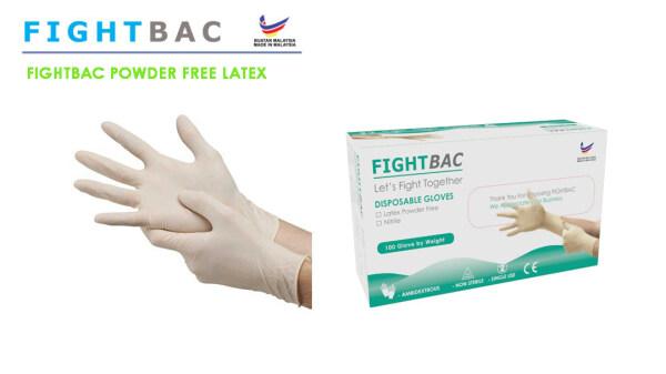 Powder Free Latex Gloves[50pcs/100pcs](Size:XS/S/M/L/XL)🔥Ready Stock🔥