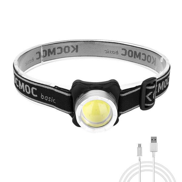 Ronghui Đèn Pha LED COB Đèn Pha Chống Nước Sạc USB Kèm Pin Tích Hợp Đèn Pha 4 Chế Độ Chiếu Sáng
