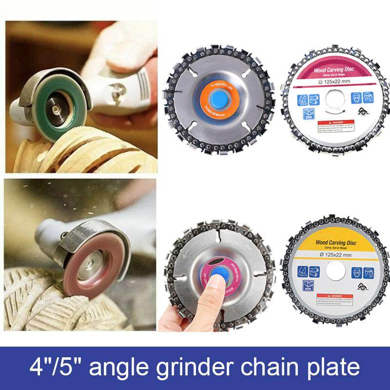 1Pcs Silver 4 inch And 5 inch woodworking chain disc angle grinder wood slotted saw blade cutting blade cutting angle grinder