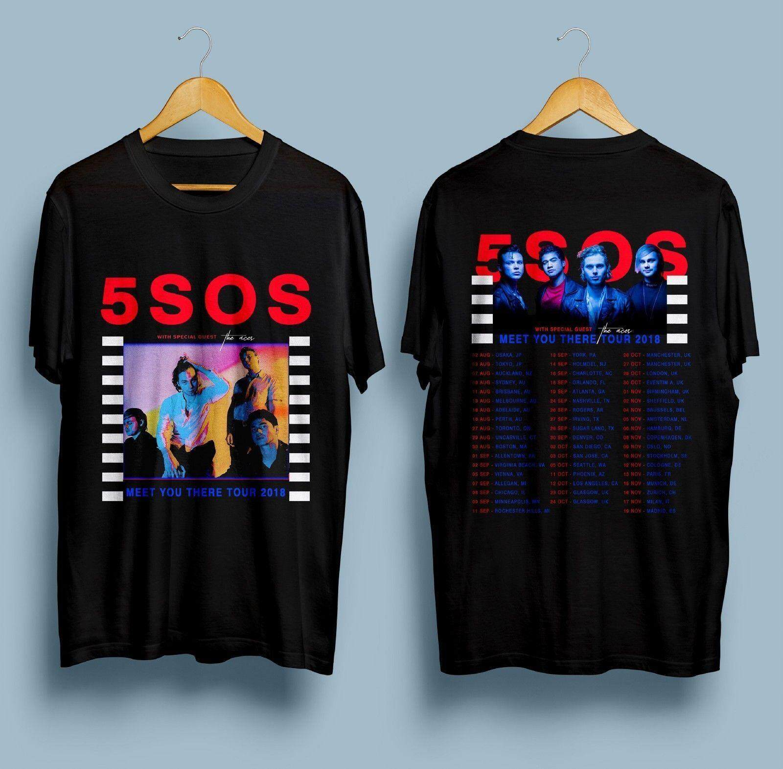 60120769971c ANX New 5 Seconds Of Summer 5SOS Meet You There Tour Dates 2018 T-Shirt