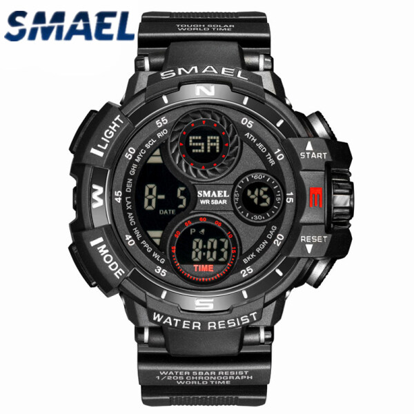 SMAEL Top Luxury Mens Watches Fashion LED Digital Military Chronograph Watch Men Outdoor Casual Waterproof Sport Electronic Watch Malaysia