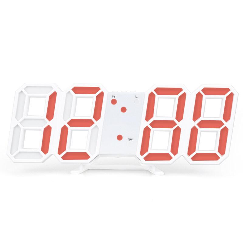 Nơi bán [Mới]] [[Cá Tuyết] Johome 3D LED Đồng Hồ Kỹ Thuật Số Báo Lại Phòng Ngủ Để Bàn Đồng Hồ Báo Thức Treo Đồng Hồ Lịch nhiệt Kế Trang Trí Nhà Tặng