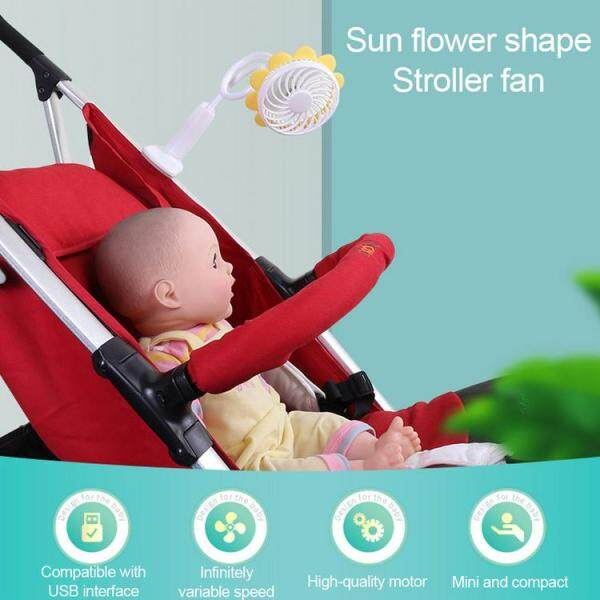 yongzhiliu Mini Handheld Stroller Fan 1200mAh Portable Car Seat Baby Fan USB Rechargeable Buggy Clip-on Fan for Camping Travel Outdoor Singapore