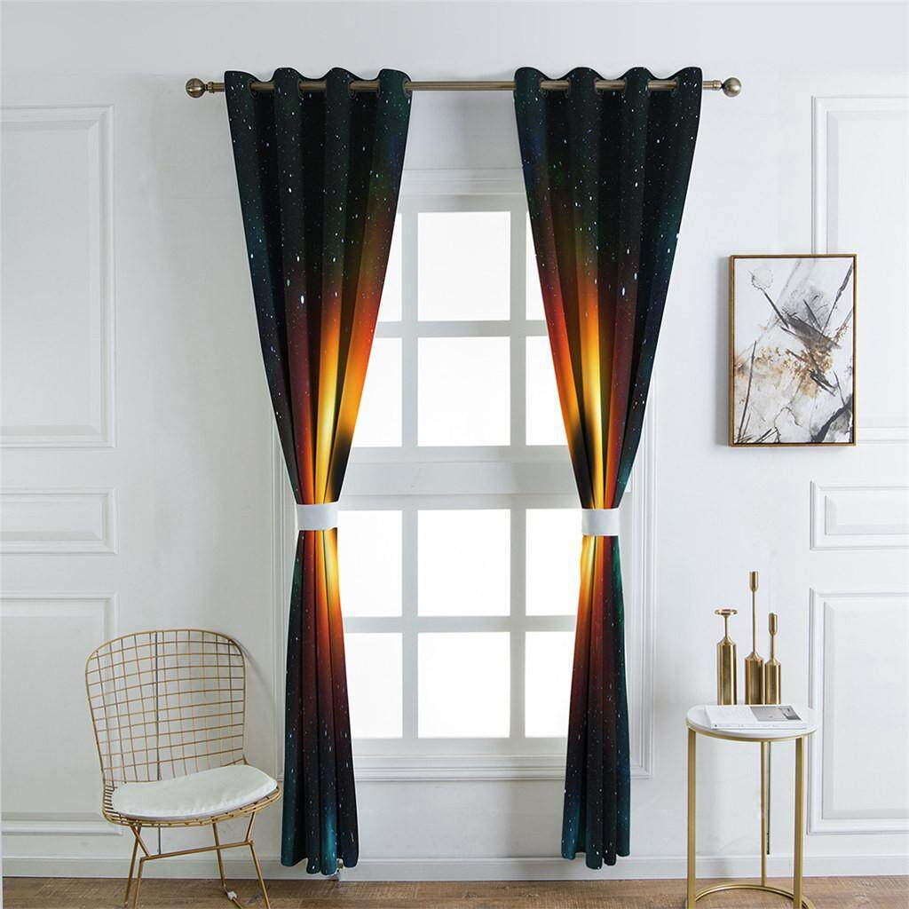 Malonestore 1 Pcs Galaxy with Stars and Black Hole Magic Astral View Blackout Curtains