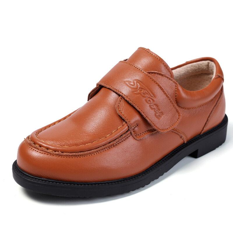 Giày Đi Học Bằng Da Cho Trẻ Em, Nguyên Hạt Da Thật Màu Đen Mùa Thu Mùa Xuân Phẳng Với Giày Tây Bé Trai Giày Đi Tiệc Oxford Cho Trẻ Em, Size 26-41 Bạn Nhé
