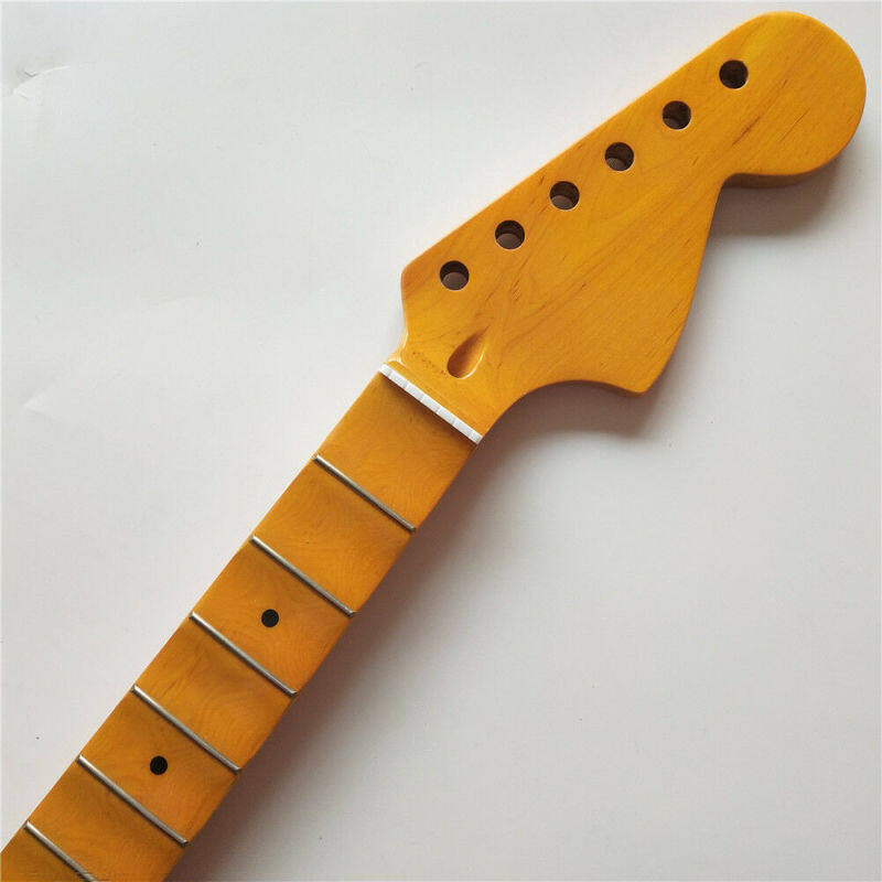 New Full Scalloped Guitar Neck Replacement 24 Fret Maple St Style Big Headstock Malaysia