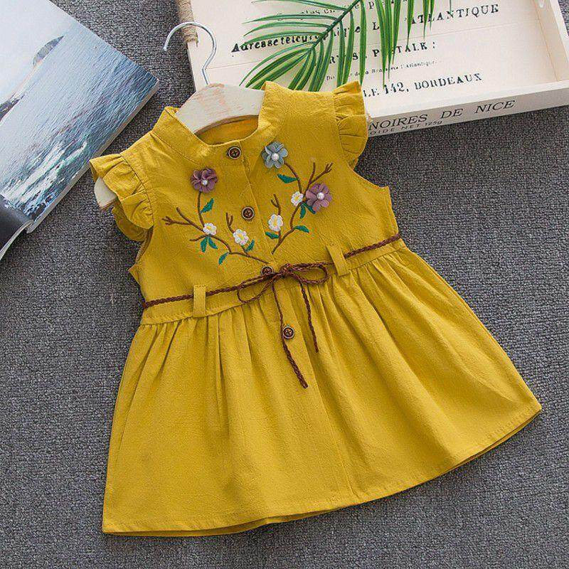 29202e93bb7e 84739 items found in Dresses. Children Summer Sleeveless Girls Cute Sweet  Cotton Vest Flower Peach Embroidered Princess Dress