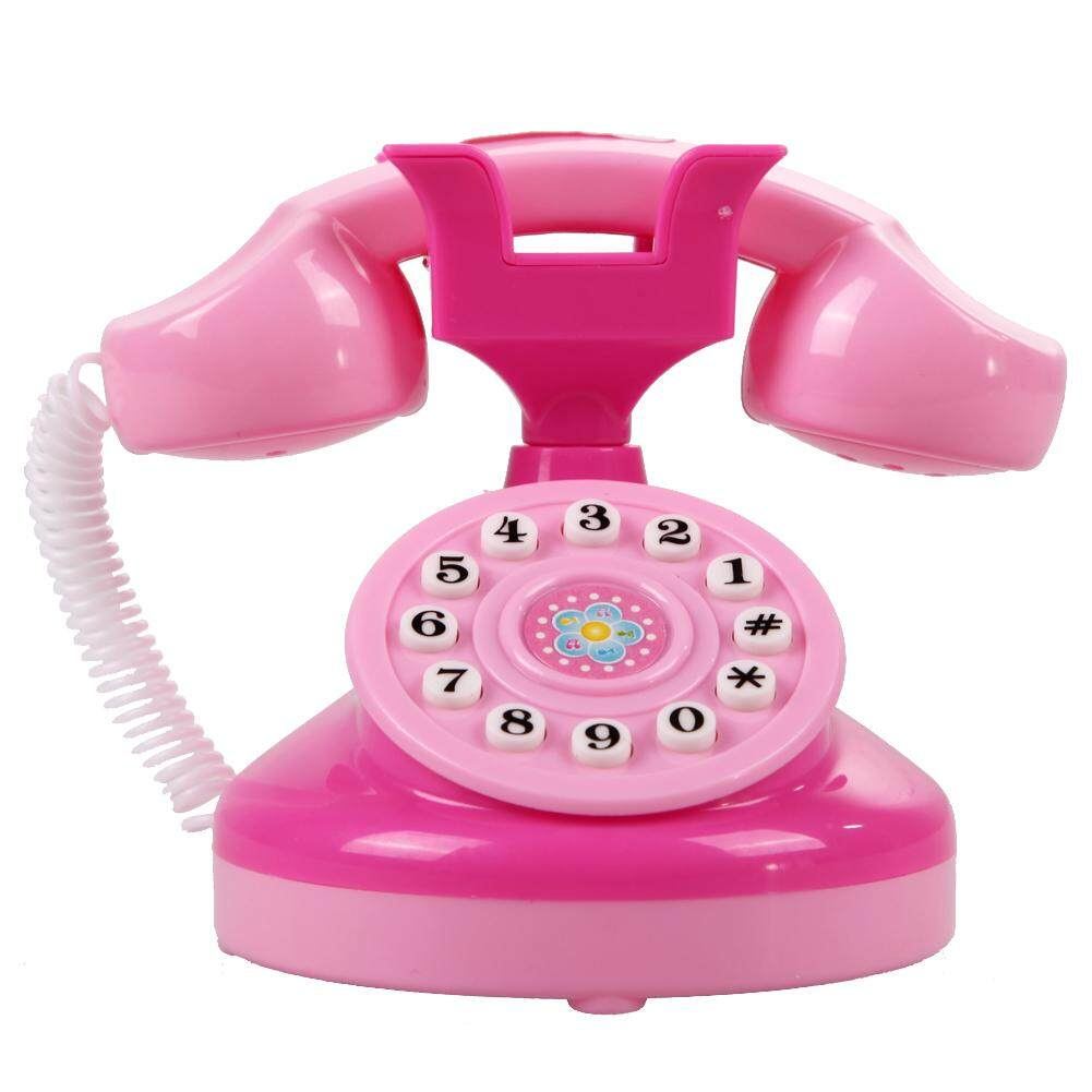 Educational Emulational Pink Phone Pretend Play Toys Girls Toy Gifts By Runningoingo.