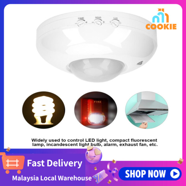 [Fast Delievry+Ship from malaysia]110V-240V Adjustable Body Motion Movement Ceiling Infrared Sensor Detector Light Bulb Switch
