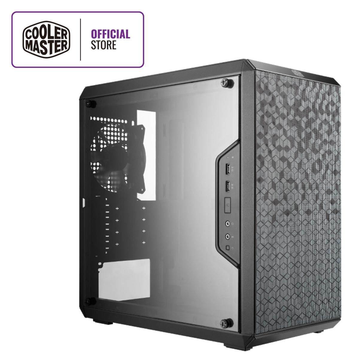 Cooler Master MasterBox Q300L Micro-ATX Qube Gaming Case with Adjustable IO  Panel
