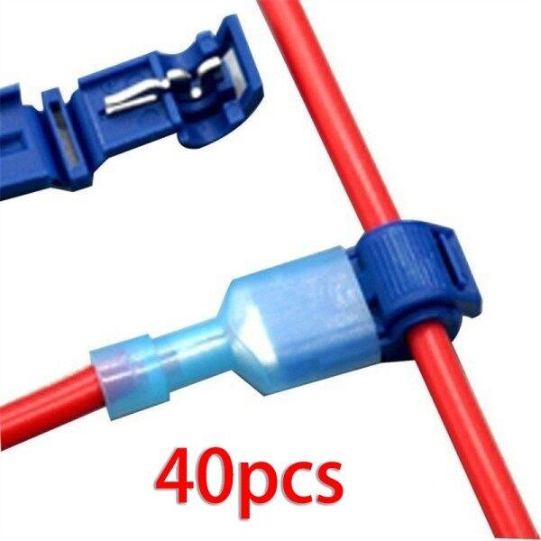 40Pcs Set Quick Electrical Cable Connectors Wire Terminals Crimp Electricity Parts Universal