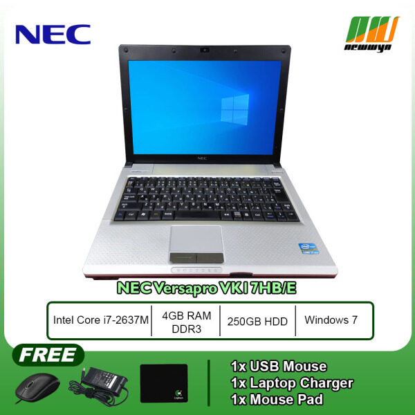 (Refurbished Notebook) NEC VersaPro VK17HB-E / Core i7-2637M @ 1.7GHz / 4GB RAM / 250GB HDD / WIN 7 Malaysia