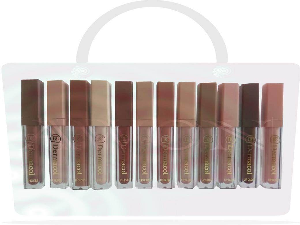 Imported Highly Demanded 12 Multi Colors Lip Gloss With Two Free Lip Liner By Wow Offers.