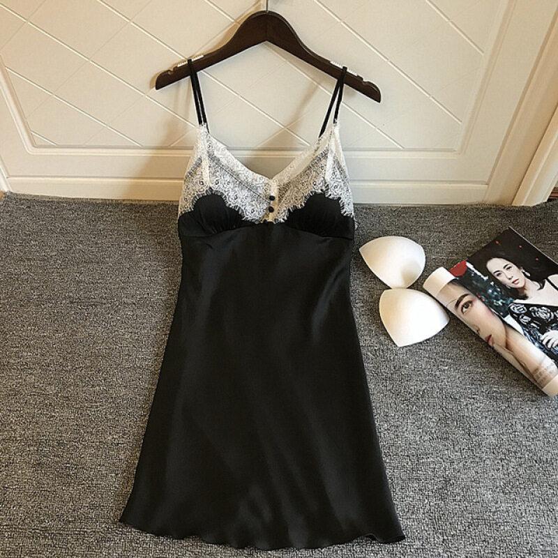 Nơi bán Lụa Váy Ngủ Sexy Hở Lưng Váy Ngủ Mùa Hè 2019 Váy Ngủ Nữ Ngủ Phòng Chờ Có Đệm Lót Ngực Ngủ Đầm Ngủ