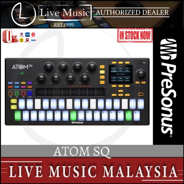 PreSonus ATOM SQ Hybrid MIDI Keyboard / Pad Performance and Production Controller Malaysia