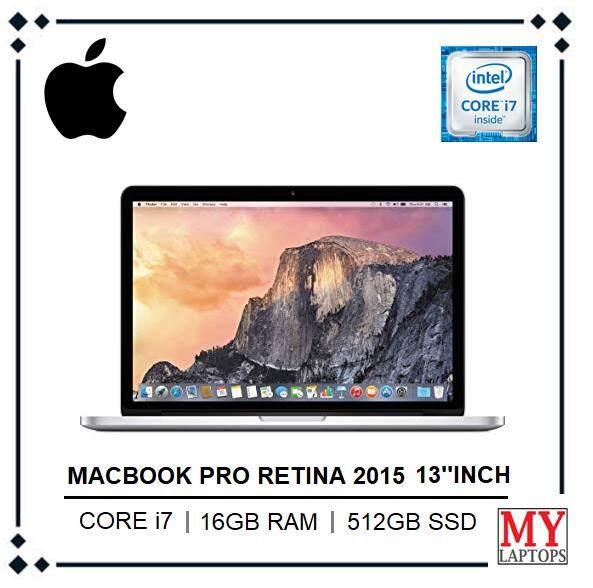Mac Book Pro Retina 2015 13.3  Inch / intel core i7 / 16gb Ram / 512gb ssd pci-e / Intel iris Pro (2560 x 1600) / Intel Iris Graphics 6100 / Mac Os Mojave Malaysia