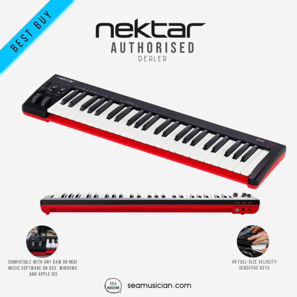 NEKTAR SE49 49 VELOCITY-SENSITIVE FULL-SIZE KEYS USB POWERED MIDI CONTROLLER KEYBOARD (SE 49-KEYS/ MUSIC RECORDING KEYBOARD/ SEAMUSICIAN) Malaysia
