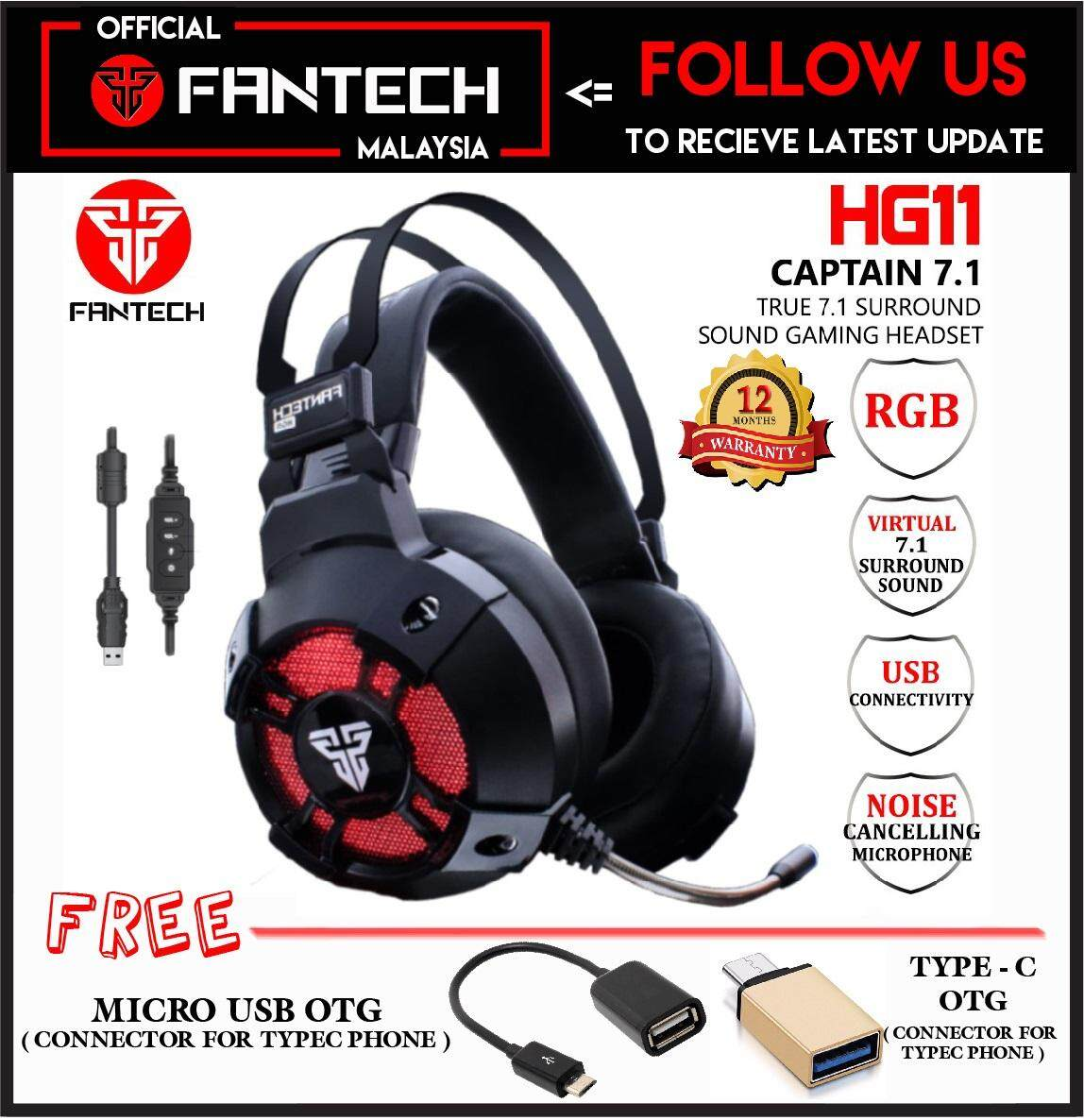 dc6602ddc3d FANTECH HG11 (CAPTAIN 7.1) Advance 7.1 Virtual Surround Sound Engine USB  Power Full Size