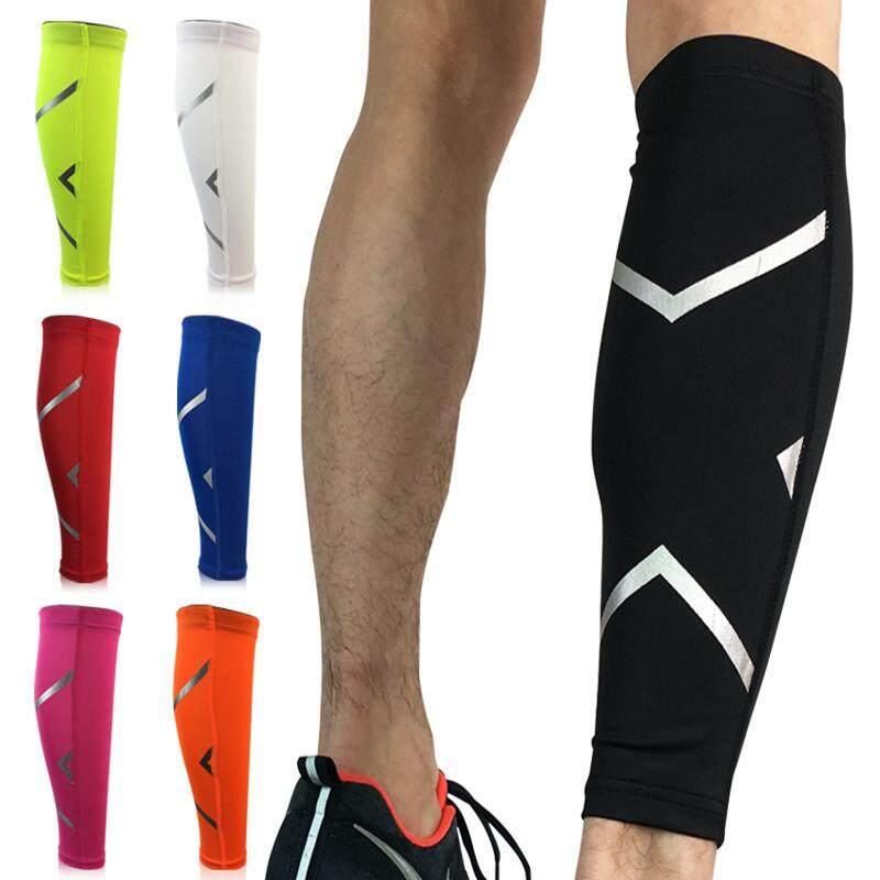 1 ชิ้นสนับน่องการบีบอัดขาแขนกีฬาที่รัดขากลางแจ้งออกกำลังกายขาอุ่น