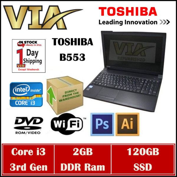 Student/Office LAPTOP TOSHIBA B553 CORE I3-3rd GEN~2GB DDR3~WIN 10 【320GB HDD / 120GB SSD / 240GB SSD】 Malaysia