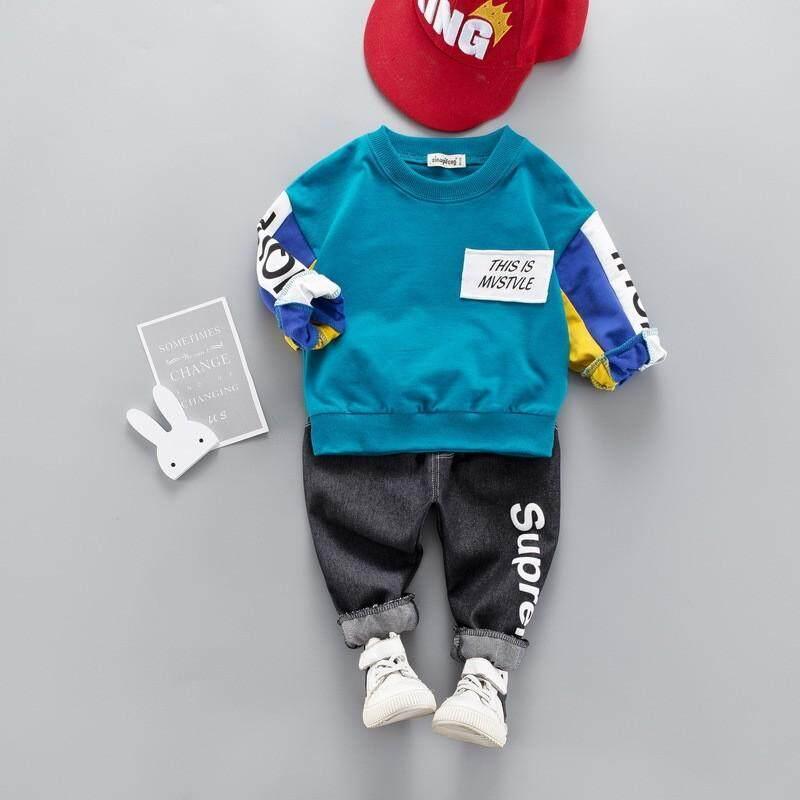 Bé trai quần xuân thu thời trang quần thể thao trẻ em phù hợp với mùa xuân Đầm 2019 mới trẻ em và trẻ sơ sinh