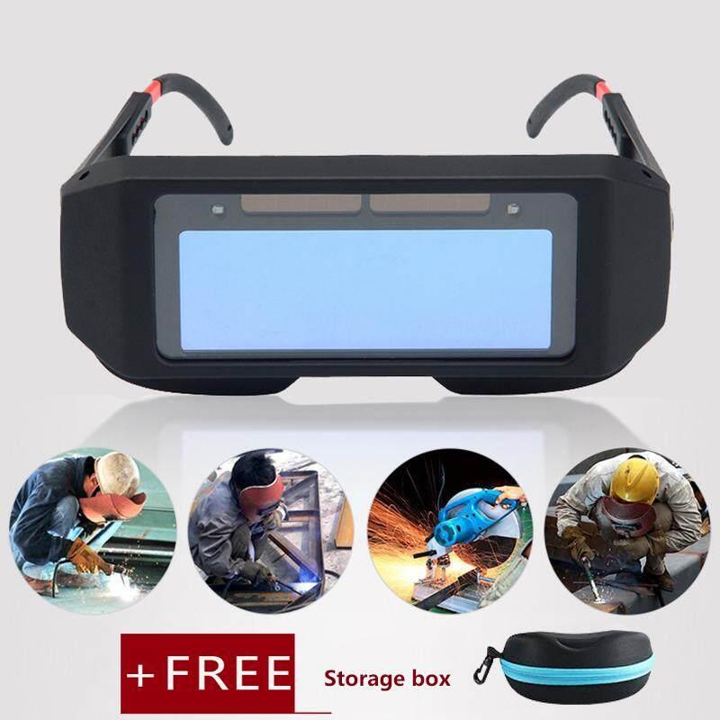 Kobwa Solar Auto Darkening Welding Goggle, Safety Protective Welding Glasses Mask Helmet, Eyes Goggles Mask Anti-Flog Anti-Glare Goggles By Kobwa Direct