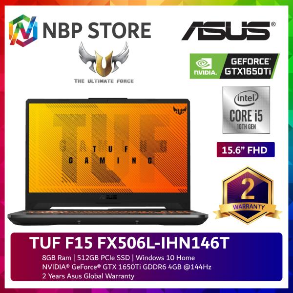 Asus TUF F15 FX506L-IHN146T 15.6 FHD 144Hz Gaming Laptop ( i5-10300H, 8GB, 512GB SSD, GTX1650Ti 4GB, W10 ) Malaysia