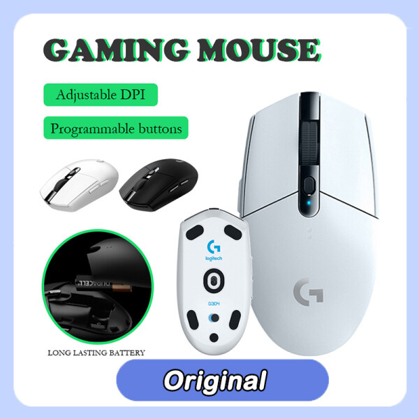 Logitech G304 Lightspeed Gaming Mouse 100% Original Wireless Game Mouse Rechargeable 5 Gears 12000 DPI Adjustable 6 Programmable Buttons Optical Mice Up To 250 hours Malaysia
