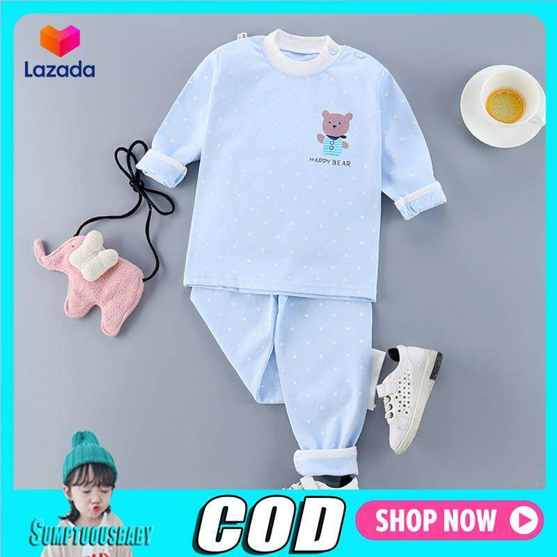 Nơi bán Bé Bé Gái Bé Trai In Họa Tiết Bộ Đồ Ngủ Mặc Áo Phông Áo + Quần Bộ Đồ Ngủ