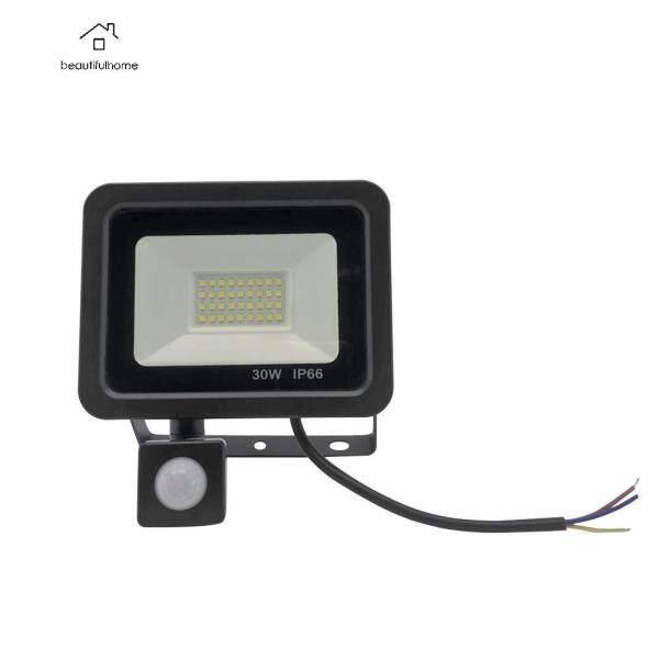 Bảng giá Đèn Pha Chống Nước 10/20/30/50W Đèn Chiếu Ngoài Trời LED Cảm Ứng Cơ Thể Màu Trắng Lạnh