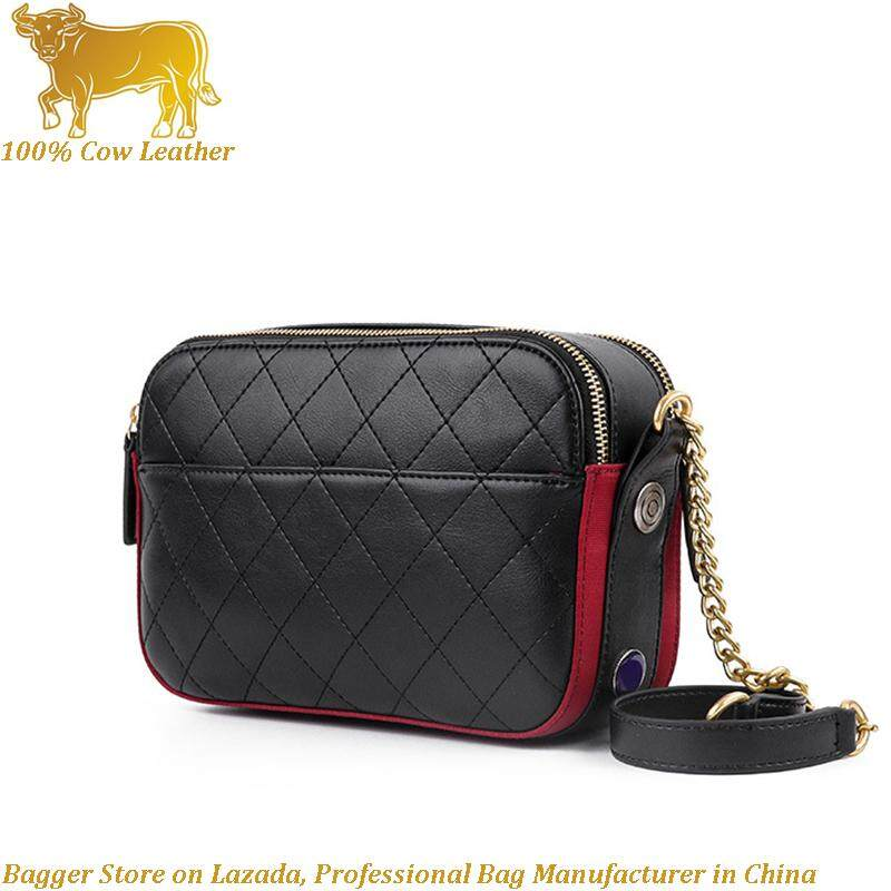 bc6949cad12 Shoulder Sling Bag For Women Girls Genuine Cow Leather 2019 New Elegant  Ladies Small Square Bags