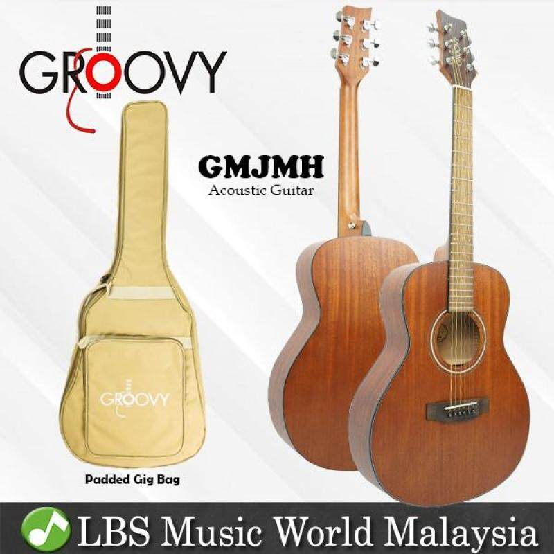 Groovy GMJMH 38 Inch Mahogany Acoustic Guitar with Bag Travel Size Mini Jumbo Guitar (GMJ) Malaysia