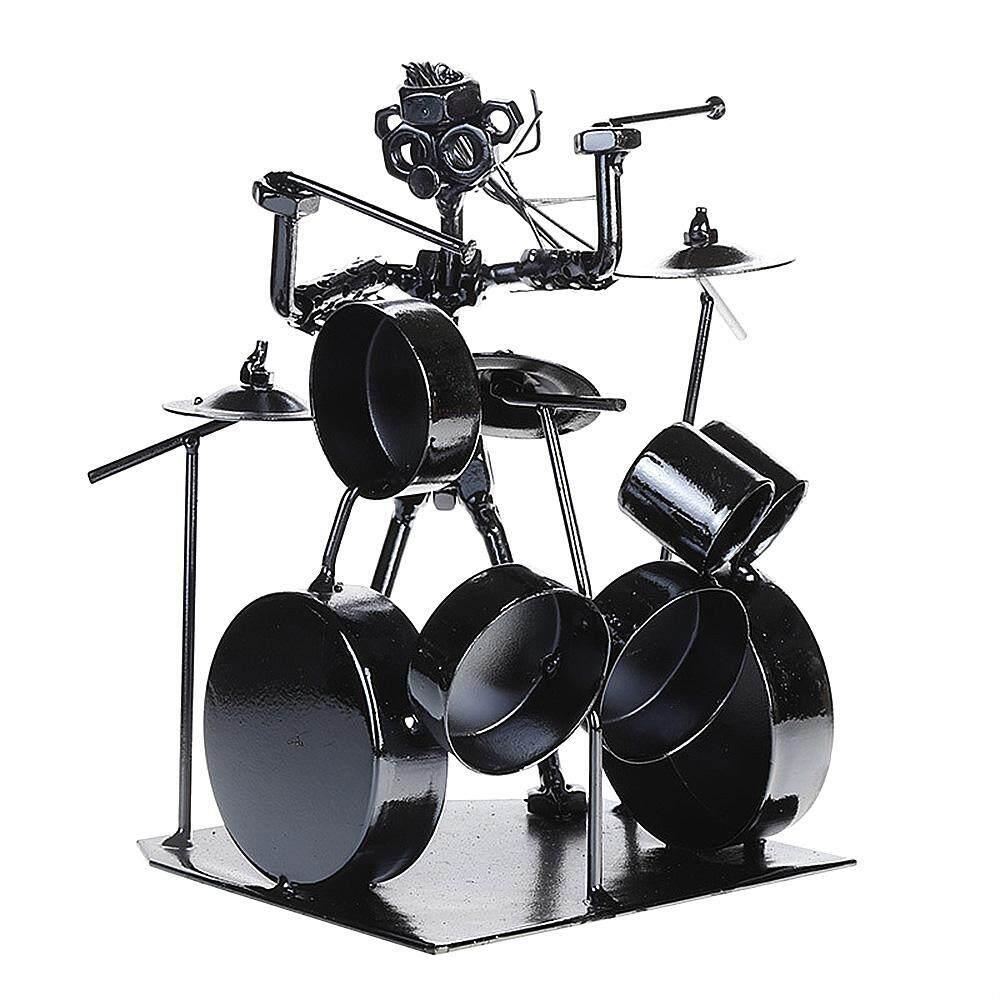 Whyus-Musician Iron Drum Art Steel Metal Creative Decor Toy Gift Ornament Desktop New