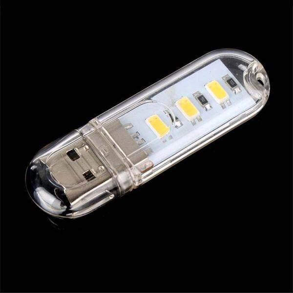 1PC Mini USB 3 LED Light Pocket Card Lamp Mobile Power Camping Laptop New