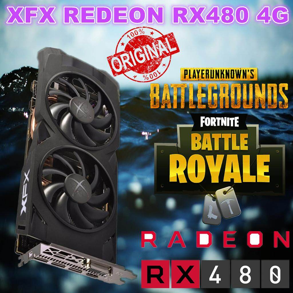 XFX RX480 4GB (BEAT GTX1050/GTX1050TI CLOSE TO GTX1060) TOTALLY SUPPORTED  TO ALL NEW GAMES